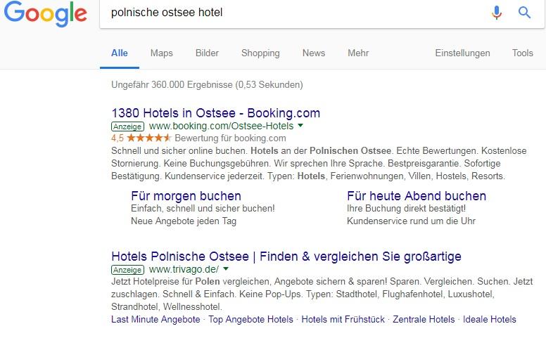 reklama hotelu w internecie w niemczech